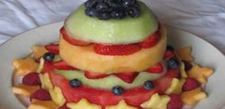 Recipe of Fruit Salad in shape of a Cake
