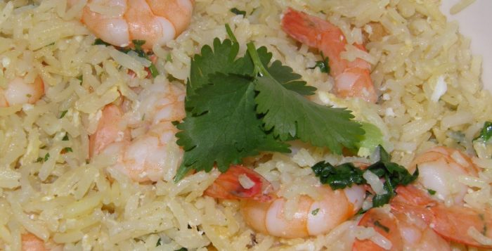 Prawn and Garlic Fried Rice