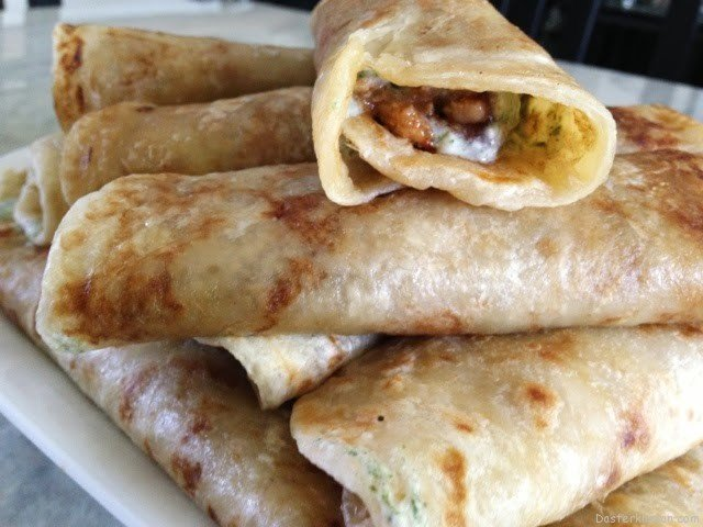 Bihaari Chicken Boti Rolls