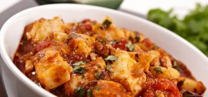 This is a Pakistani recipe that is a spicy curry.
