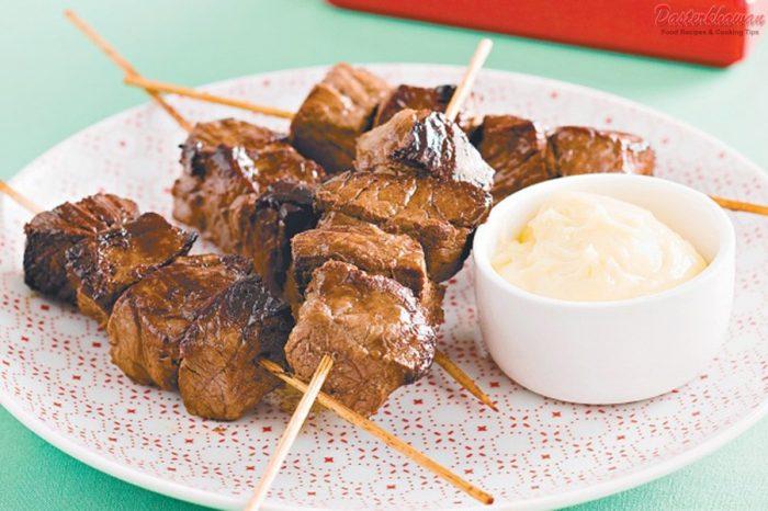 Beef Tikka with wasabi mayo